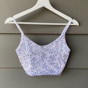 Urban Outfitters Sequin Crop Top
